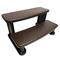 UNIVERSAL FIT: Made to use with spa any shape or size. This step compliments almost every spa. NO SLIP TREAD: No slip treads are installed on every step to help repel water and prevent falls or slips. HIGH QUALITY: Each step is protected from UV Rays...