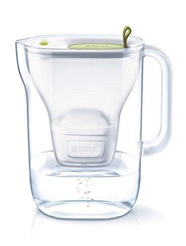 ブリタ 浄水器 ポット 浄水部容量:1.4L(全容量:2.4L) スタイル ライム マクストラプラス カートリッジ 1個付き 【日本仕様・日本正規品】塩素 水垢 不純物 除去