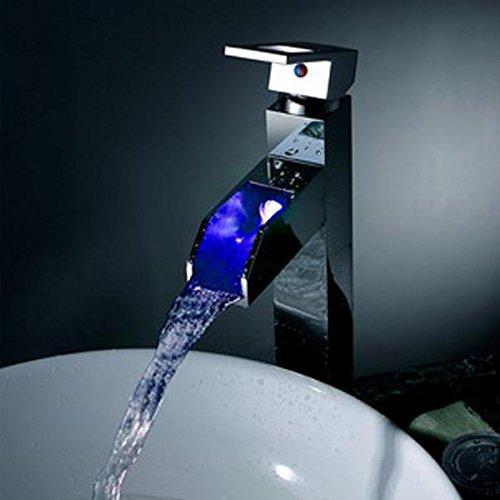 AllureFeng Europeo cobre termotanque fría lavabo mezclador/LED luminiscencia cuenca alta