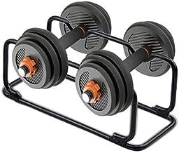 Verticaal halterhouders, dumbell Organizer - Voor het opbergen van 2 halters, stevig en compact lichaam - Home Gym Fitness...