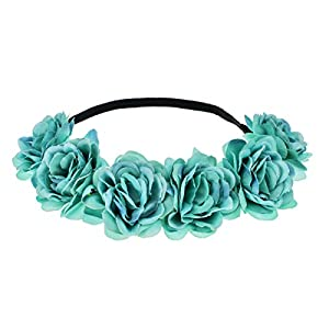 June Bloomy Camellia Flower Crown Wreath Halo Floral Garland Headpiece Photo Props