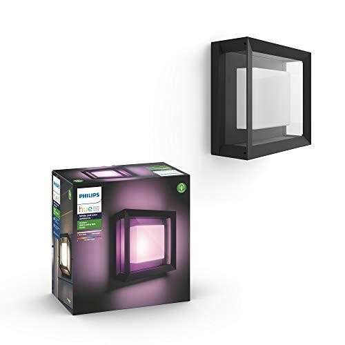 Philips Hue Econic Aplique inteligente exterior LED (IP44), luz blanca y de colores, posibilidad de control por voz