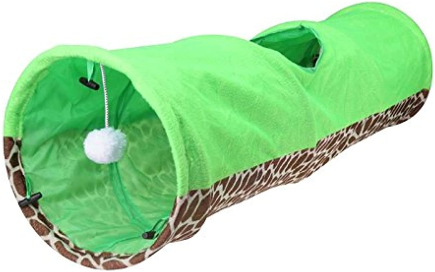02 Pet Tunnel Cat Play Tunnel Leopard Print Crinkly Cat Fun Long Tunnel Kitten Play Toy Collapsible Coon Cat Tunnel Bulk Cat Toy