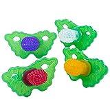 4PCS Mordedor para Bebé, JPYH Silicone Baby Teether Toys, Mordedores Bebes Para Aliviar El Dolor De Encías, Bebés y Niños Pequeños Mayores de 3 Meses