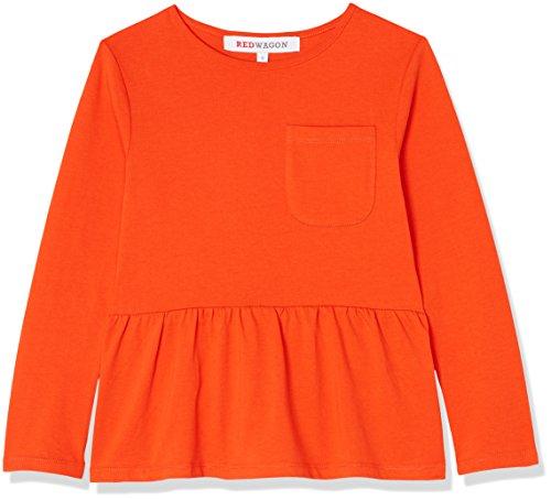 Amazon-Marke: RED WAGON Mädchen Sweatshirt mit Schößchen, Orange, 152, Label:12 Years