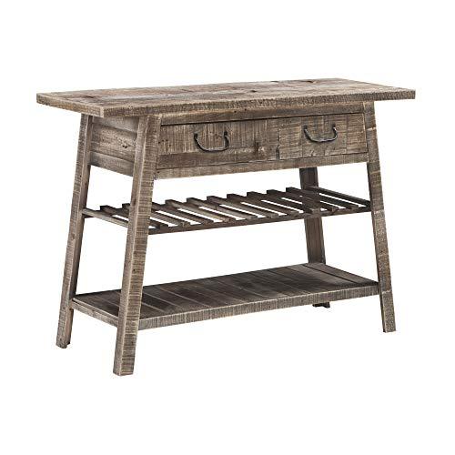 Signature Design by Ashley - Camp Ridge Console Sofa Table - Rustic Modern Farmhouse - Light Brown