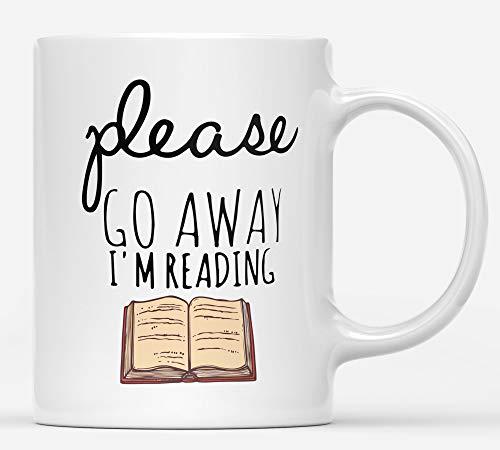 Summerjokes Book Lovers -Please Go Away I'm Reading Mug