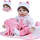 ZIYIUI Realista Bebes Reborn Niña Toddler Muñecas Silicona Original Muñeca Reborn Dolls Chica Recién Nacido 22 Pulgadas Niños Juguete