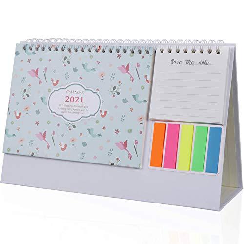 Agosto 2019-dicembre 2020 mini calendario da tavolo per fare la lista calendario giornaliero memo per casa scrivania ornamenti flamingo