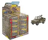 GLOBO, 1 38 vehículos Militares 6asst 24 Piezas/dbox Pull Back (39168), Multicolor