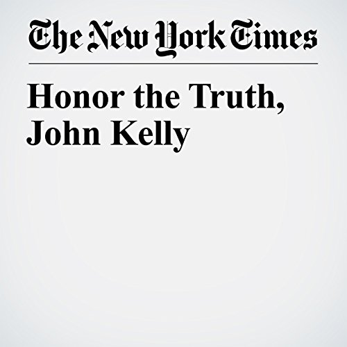 Honor the Truth, John Kelly  copertina