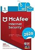 McAfee Internet Security 2019 - Antivirus, PC/Mac/Android/Smartphones, 1 Dispositivo, Suscripción de 1 año Código de activación por correo