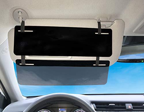 SlideVisor Black and Limo Tint Double Sun Car Visor Sunshade Extender Shade for Car Window Shade ShadesAnti-Glare Car Sun Visor Protects from Sun Glare