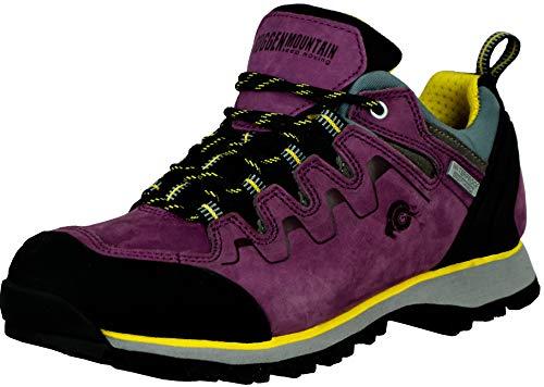 GUGGEN Mountain PT024 Damen Wanderschuhe Trekkingschuhe Outdoorschuhe Wanderstiefel Walkingschuhe wasserdicht mit Membran und Wildleder Farbe Lila EU 39