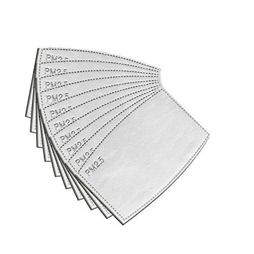 DressLksnf Filtro de Carbón Activado 𝓜𝓪𝓼𝓬𝓪𝓻𝓪 Facial Inserto de RespiracióN Filtro de 𝓜𝓪𝓼𝓬𝓪𝓻𝓪 Protectora de Boca 10Pcs Pm2.5 𝓜𝓪𝓼𝓬𝓪𝓻𝓪 5 Capas para Adultos
