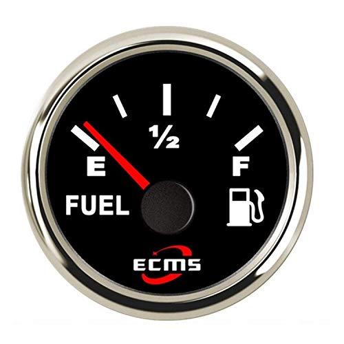 WEI-LUONG 2' Medidor de Nivel de Combustible del Coche del medidor Indicador 0-190ohm con retroiluminación 12V / 24V for el Coche del Carro del Barco Coche