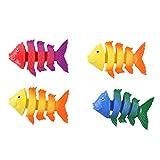 Bluesky Mehrfarbig, 4 Fische, 040168 - Poolspiele für Kinder ab 5 Jahren