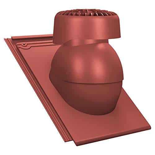 Sanitär Entlüfter für Abwasserleitungen, für Braas - Turmalin Dachziegel Dachlüfter Sanilüfter (RAL 3009 - Rot)