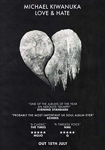 Desconocido Michael Kiwanuka Love & Hate Póster Foto Tour Home Again Singer Camisa 001 (A5-A4-A3) - A3