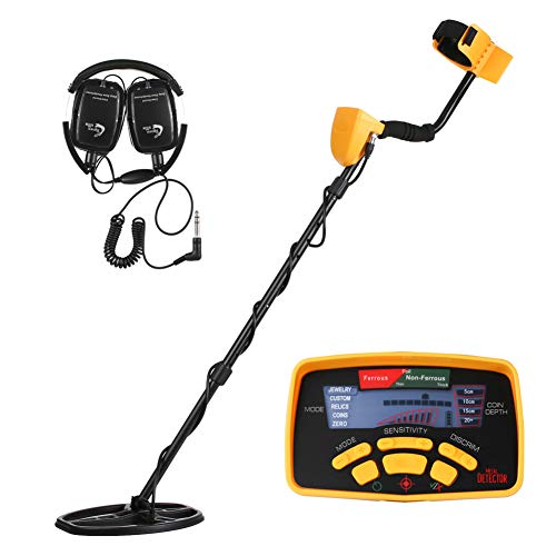 Affordable Professional Metal Detector with Waterproof Search Coil and LCD Display, Treasure Hunter ...