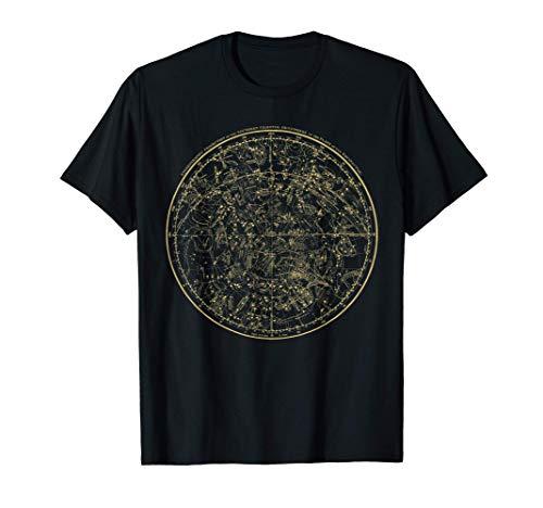 Constellations Map, Astronomy Astrology Mythology T-Shirt
