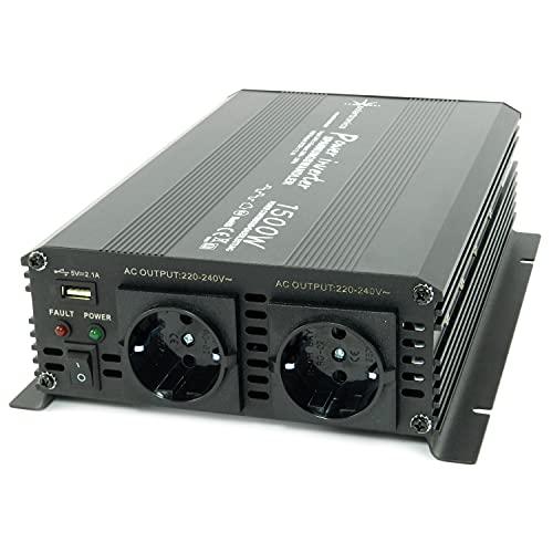 Convertisseur de tension, 24Và 230V, 1500à 3000W, onduleur pour le branchement mobile d'appareils ménagers