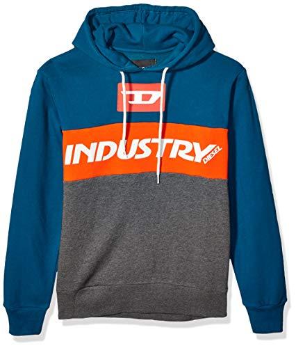 Diesel Herren Brandon Hoodie Sweatshirt Pyjama-Oberteil (Top), Melange Grey, X-Groß
