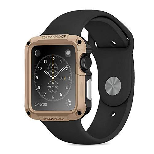DLCYMY Funda Impermeable de la Cubierta de la Armadura para Watch para la Serie de Relojes de 5 4 3 2 2 1 40mm 42mm 38mm 44mm Accesorios de Marca de Lujo Originales
