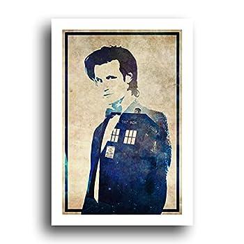 Doctor Who 11th Dr Matt Smith Tardis - 13x19 Original Minimalist Art Poster Print