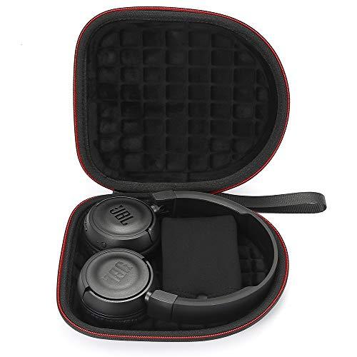 Estuche rígido para JBL T450BT / JBL T500BT sobre Oreja Auriculares inalámbricos Bluetooth, Bolsa Protectora de Viaje para Viaje - Negro(Forro Negro)