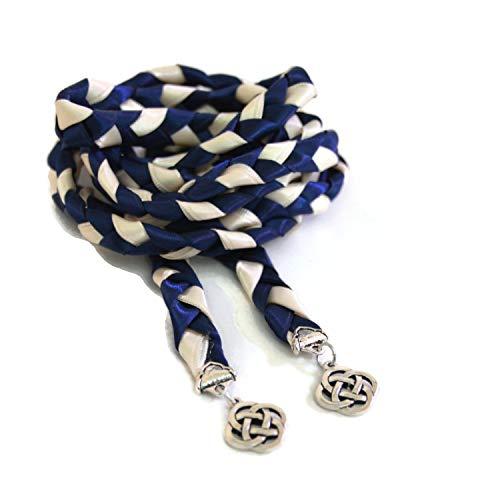 Divinity Braid Navy Ivory Celtic Knot Wedding Handfasting Cord V2#Handfasting #Wedding #DivinityBraid #Celtic #CelticKnot #DreamWedding