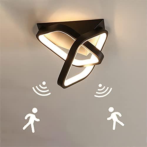 Lámpara LED de techo para pasillo Plafón LED de luz con detector de movimiento moderno interior Luces de Techo con Sensor para pasillo baño sótano garaje escaleras balcones almacén Blanco cálido 3000K