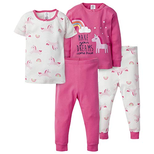 Gerber Baby Girls 4-Piece Pajama Set, Dreams Come True, 18 Months