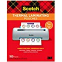 100-Pack Scotch Thermal Laminating Pouches