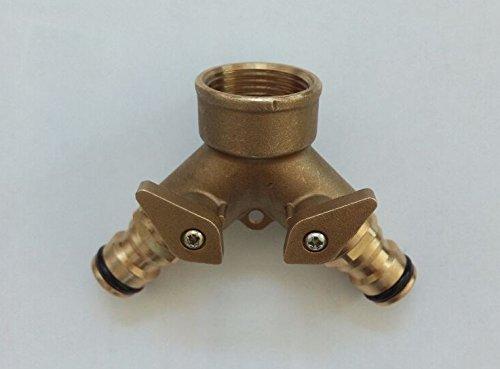 'Fermetures Répartiteur en Y pour tuyau rapide avec filetage interne 3/4 avec double raccord de tuyau de jardin # 85