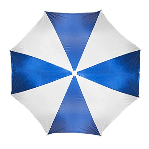 Beach Umbrella 72' Wide & 72' High (Blue/White.)