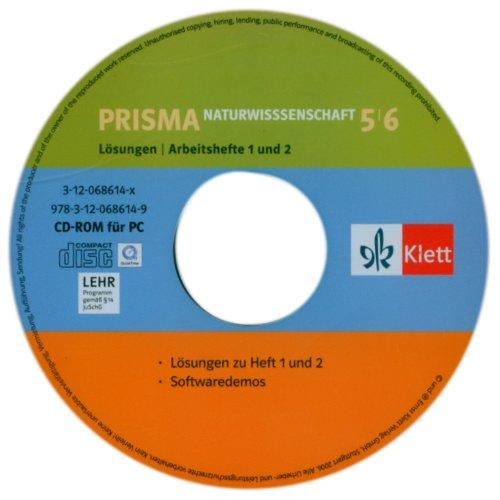 Preisvergleich Produktbild Prisma 1, 2. Naturwissenschaften. 5. / 6. Klasse. CD-ROM. Lösungen auf CD-ROM zu Band 1 und 2 (Lernmaterialien)