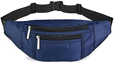 Fanny Packs for Women Fashionable, Waist Pack Bags with 4 Pouches Adjustable Belts, Cute Fashion Belt Bum Bag for Travel, Hiking, Cycling