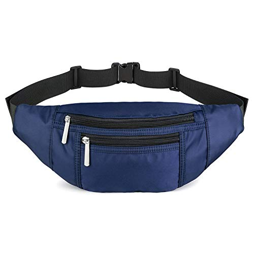 LUSBAM Fanny Packs for Women Men, Waterproof Waist Pack Bags with 4 Pouches Adjustable Belts, Lightweight Fashion Belt Bag Bum Pouch for Travel, Hiking, Cycling and More