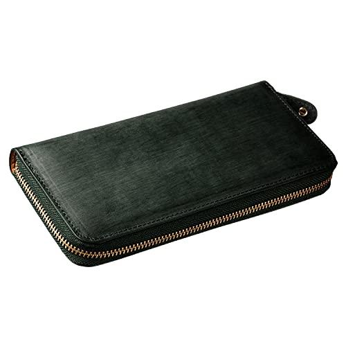 [グレヴィオ] GLEVIO 財布 一流の財布職人が作る 本革 ブライドルレザー 財布 メンズ 大容量 長財布