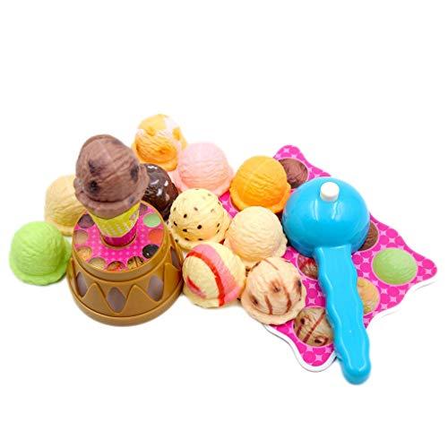 Floridivy Baby Simulatie Eten IJs Stack Up Play Educatief speelgoed Kinderen Pretend Play Mooie Gift Thuis Toy