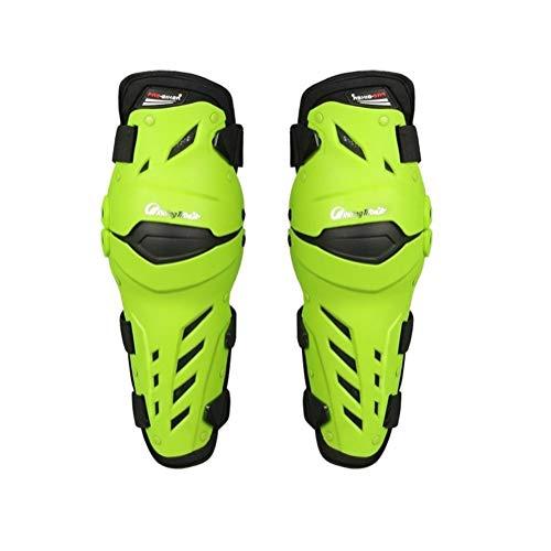 Motorrad Knieschützer 3 Farben PRO-Biker Motorrad Knieschützer Knieschleifer Motosikle Knie Protektoren-Schutz-Schutz-Kit (Color : Green)
