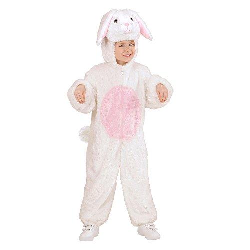 Widmann 98085 - Kinderkostüm Hase aus Plüsch, Overall mit Kapuze und Maske