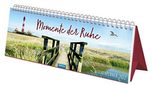 Trötsch Wochenplaner Momente der Ruhe 2022: Aufstellkalender Tischkalender: Tisch-Notizkalender (Wochenkalender)
