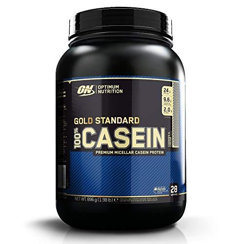 Optimum Nutrition 100% Gold Standard Casein, Proteine di Caseina a Lento Rilascio con Glutammina, Aminoacidi, Zinco e Magnesio, Cookies Cream, 28 Porzioni, 0.9 kg, il Packaging Potrebbe Variare