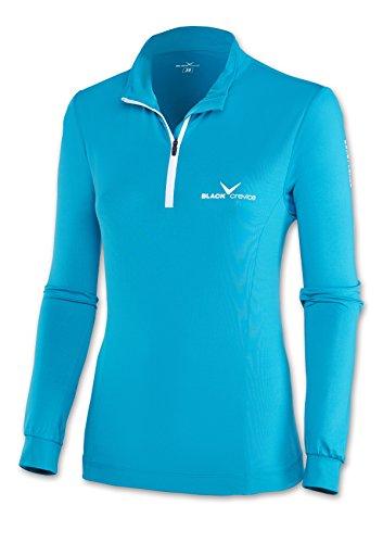 Black col roulé Embout Crevice de Ski Femme, Skirolli, Multicolore (Bleu ciel/blanc), 46 (Taille fabricant:44)