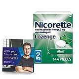 Nicorette 2mg Coated Nicotine Lozenges to...