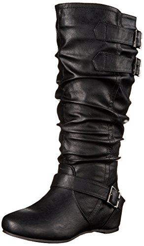 Brinley Co Women's Cammie-xwc Slouch Boot, Black Extra Wide Calf, 8 M US