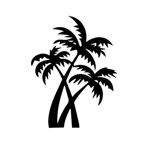 VOSAREA Baum Wandtattoo Palmen Wandaufkleber Wandsticker DIY Dekorativ Kunst
