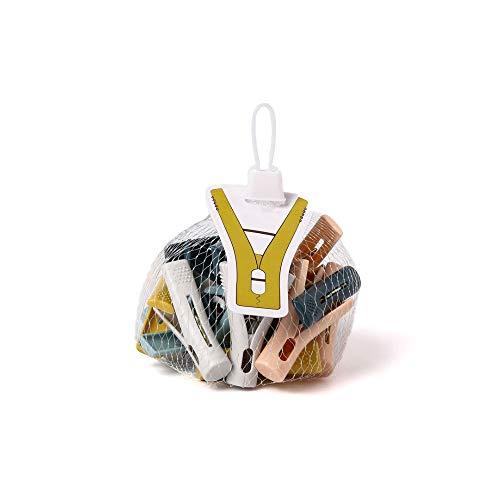 Pinzas de plástico para la ropa, 1 paquete de pinzas de plástico para el hogar (20 unidades)